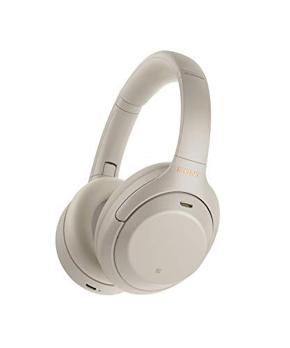 Sony WH1000XM4 - Auricular Noise Cancelling inalámbrico (Bluetooth, optimizado para Alexa y Google Assistant, 30 h de batería, óptimo para Trabajar en casa, Micro para Llamadas Manos Libres), Plata