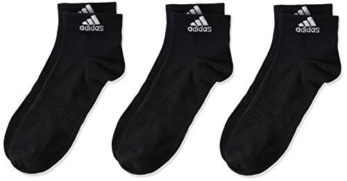 adidas Light Ank 3pp, Socks Uomo, Black/Black/Black, M