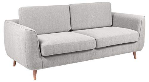 Amazon Brand - Movian Ribe - Divano a 3 posti, 92 x 200 x 85 cm (Lu x La x A), grigio chiaro