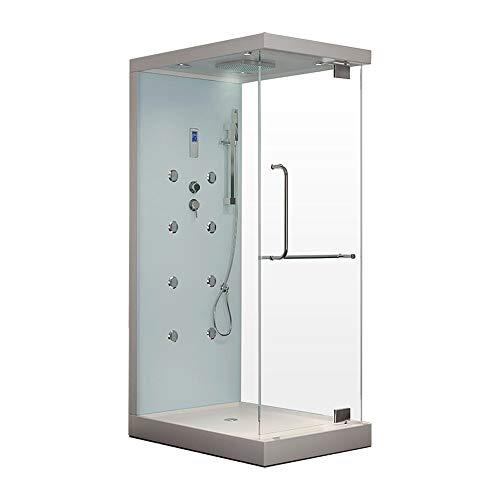 Home Deluxe - Dampfdusche - Design M - Maße: 80 x 120 x 220 cm