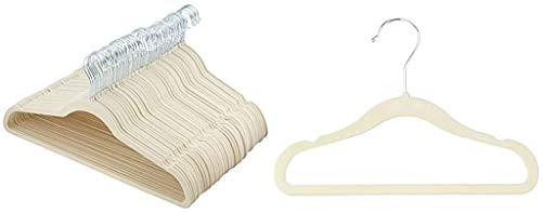AmazonBasics Slim, Velvet, Non-Slip Clothes Suit Hangers,...