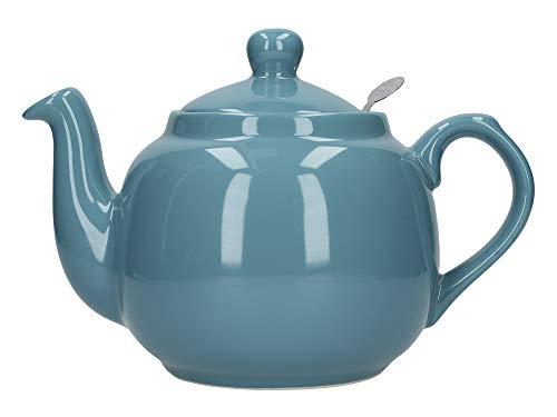 London Pottery Farmhouse Loose Leaf Teapot with Infuser, Ceramic, Aqua, 4 Cup (1.2 Litre)