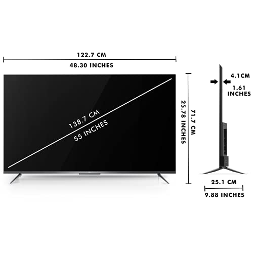 31DrDppUB9S TCL 139 cm (55 inches) AI 4K Extremely HD Licensed Android Sensible LED TV 55P715 (Silver) (2020 Mannequin)   With Distant Much less Voice Management