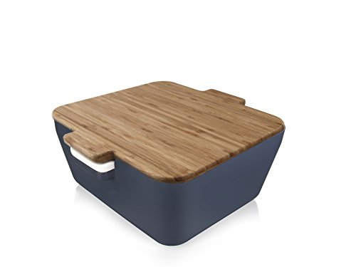 Tomorrow`s Kitchen Bread & Dip Brotdose, Kunststoff, Denim Blau, 10.6 x 24.1 x 23.8 cm, 3-Einheiten