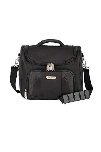 Travelite Handgepäck Kulturtasche mit Aufsteckfunktion, Gepäck Serie ORLANDO: Klassisches Weichgepäck Beautycase im zeitlosen Design, 098492-01, 19 Liter, 0,9 kg, schwarz