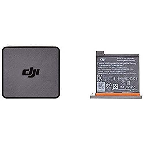 DJI Osmo Action Part 1 - Batteria per Videocamera DJI Osmo Action, Capacità Massima 1300 mAh, Installazione Facile e Veloce, Scatola Contenitore per Batterie e MicroSD Card