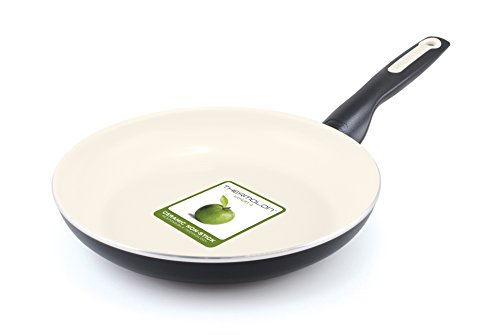GreenPan Rio 12 Inch Ceramic Non-Stick Fry Pan, Black - CW0005083