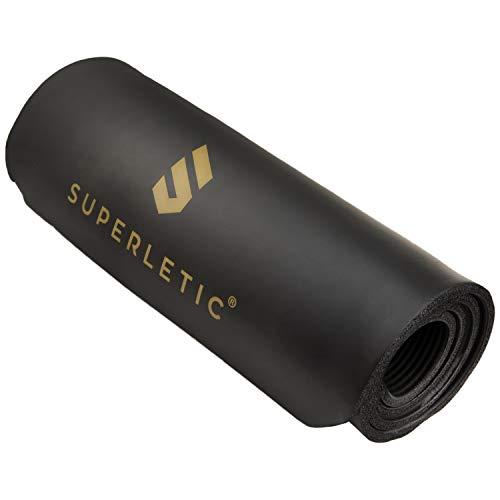 SUPERLETIC Gymnastikmatte Professional I rutschfeste Fitnessmatte I 3 Mattenstärken für Fitness, Turnen, Pilates, Yoga I Hautfreundliche Sportmatte I 180 x 60 x 1 cm