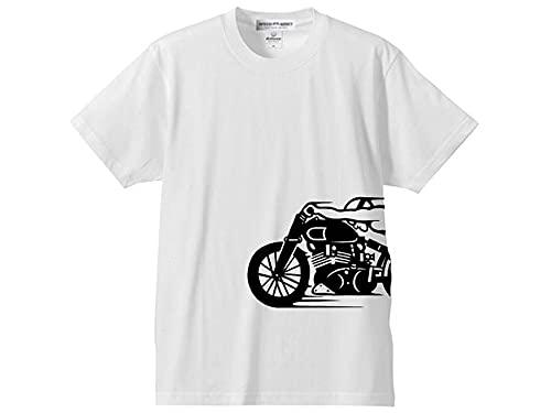 スピードアディクト サイドプリント T-shirt(SPEED ADDICTサイドプリントTシャツ) S/S WHITE Sサイズ