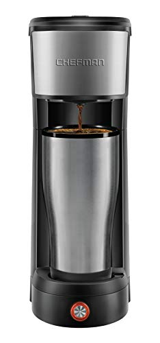 Chefman InstaCoffee Single Serve Coffee Maker Brews in 30 Seconds...
