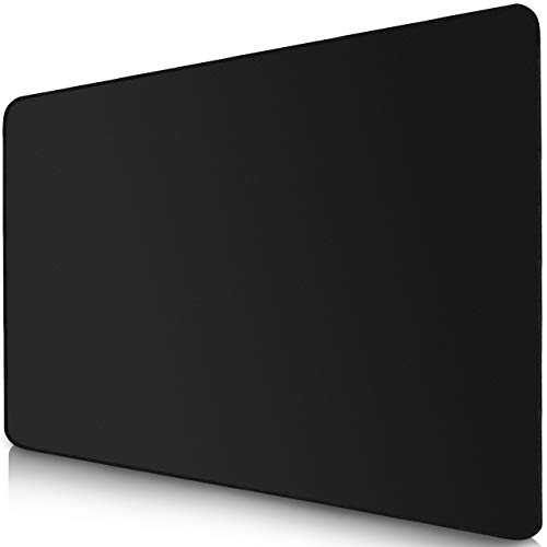 Sidorenko Gaming Mauspad - 280 x 200 mm - Vernähte Kanten - Rutschfest - Mousepad mit einer speziellen Oberfläche verbessert Geschwindigkeit und Präzision | schwarz