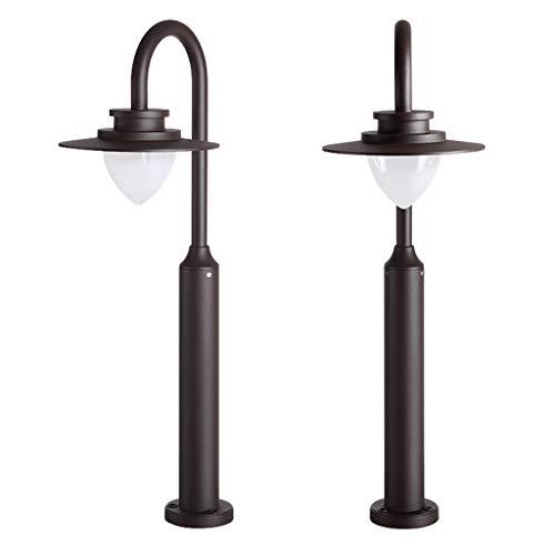 ESTEAR Luci A LED da Giardino - Luci di Passaggio Paesaggistiche Lampade di Collegamento Elettrico Alluminio IP54 Impermeabile per La Sicurezza Esterna del Patio