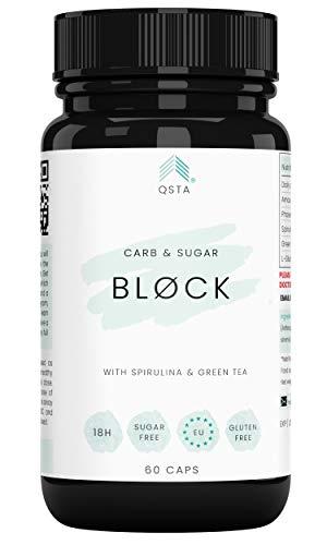 Keto Plus Actives BLOCK (60 CAPS) - Bloqueador de Carbohidratos & Azucar, Protege Aumento de Peso, Compatible con todas las Dietas, Sin Aditivos, 100% Natural + Servicio Personalización