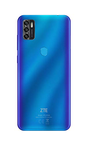 ZTE Smartphone Blade A7s 2020 (15.51 cm (6,5 Zoll) HD+ Display, 4G LTE, 3GB RAM und 64GB interner Speicher, 16 MP Hauptkamera und 8 MP Frontkamera, Dual-SIM, Android Q) ocean blue