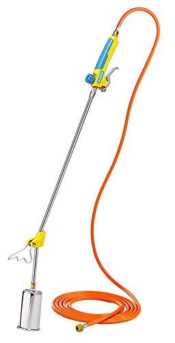 GLORIA Thermoflamm BIO Professional PLUS - Gas Abflammgerät | Leistungsstark & langlebig | für große Flächen | Druckgasflaschen-Anschluss | Unkrautbrenner für den unkrautfreien Garten und Gehweg