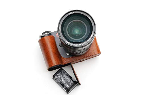TP Original Leica SL2 専用 オープナブルタイプ 本革 ボディケース 赤茶色 (底面開閉)