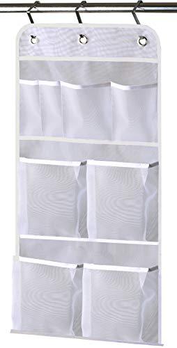 MISSLO Hanging Mesh Pockets Hold 340oz/1000ml Shampoo Shower...