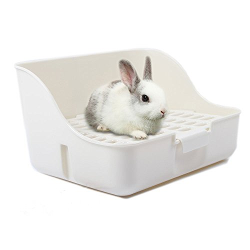 Rabbit Cage Litter Box Entrenador de Orinal fácil de limpiar para...