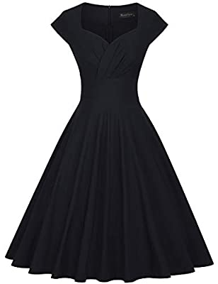 ATTENTION: our size is difference compared to standard US size, so please choose a correct size from our GownTown size chart only in the picture area on the left Style: Audrey Hepburn Style Vintage 1950's Rockabilly Swing Evening Dress Strechy 50`s S...