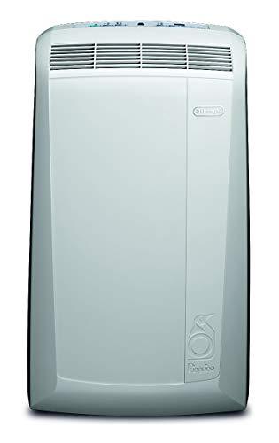 De'Longhi Pinguino PAC N82 Eco Silent - mobiles Klimagerät mit Abluftschlauch, leise Klimaanlage für Räume bis 80 m³, Luftentfeuchter, Ventilationsfunktion, 12h-Timer, 2,4 KW, 75 x 45 x 39,5 cm, weiß