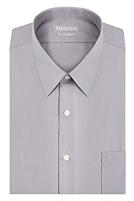 Wrinkle Free: Developed for less wrinkles and easy care Fitted Fit: Roomier through the shoulders, chest and arms, with a tapered waist Point Collar: Classic collar thought to lengthen the face & allows for tie knot variety; can be worn with or witho...