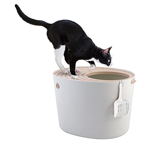 Iris 531240 Katzentoilette Hop In mit Einstieg von oben PUNT-530, L, Weiß