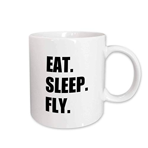 N / A mug_180404_2 Eat Sleep Fly Cadeaux Amusants pour l'équipage de...
