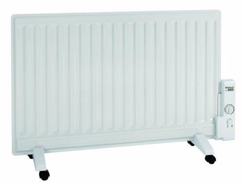 Einhell Flächenheizer FH 800 (230 V, 800 Watt, Thermostatregler, Befestigung als Wandheizung, Standfüße mit Lenkrollen, Kipp- und Überhitzungsschutz)