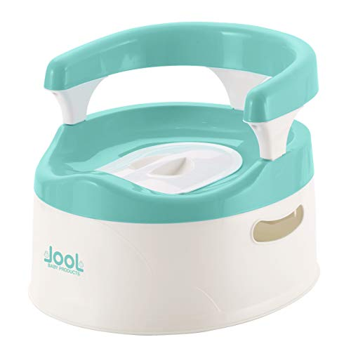 Child Potty Training Chair for Boys and Girls, Handles & Splash Guard - Comfortable Seat for Toddler - Jool Baby (Aqua)
