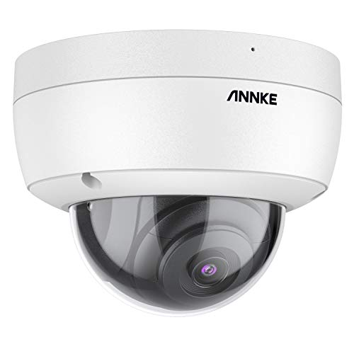 ANNKE C800 Dome 4K Ultra HD PoE Cámara de seguridad H.265 + 8MP Cámara de videovigilancia Con cable IP67 Video exterior IK10 Grabación de audio de vigilancia antivandálica Tarjeta de 256GB TF (SIN PTZ)