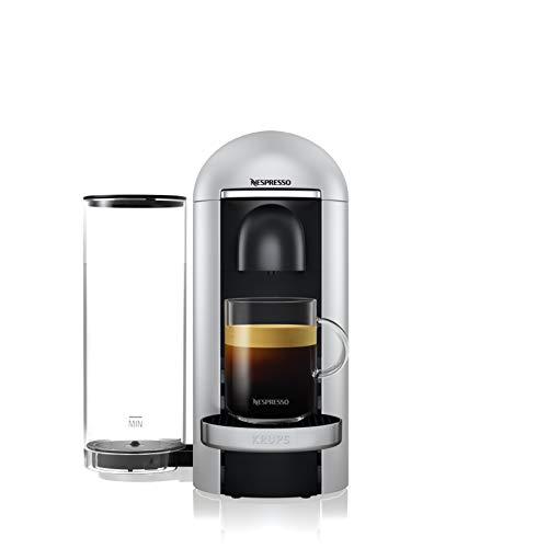 Nespresso Krups Machine Expresso Vertuo Plus Silver, Machine à Café, Cafetière Expresso, 5 Tailles de Tasses, 1,8L YY4152FD