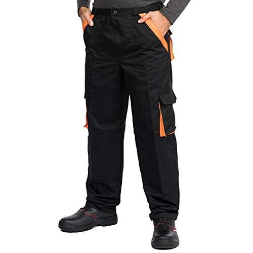 Pantaloni da Lavoro Uomo Multitasche, Taglie Grandi S-3XL, Salopette da Lavoro, Tuta da Lavoro Uomo, Blu, Nero, Bianco, Riflettenti, 48
