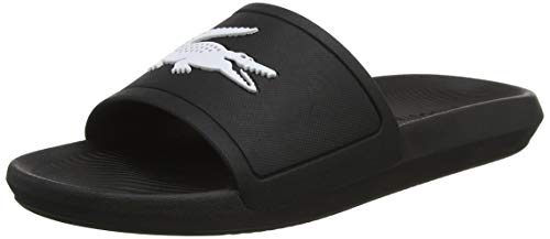 Lacoste Croco Slide 119 1 CMA, Sandalias de Punta Descubierta Hombre, Negro (Black/White), 42 EU