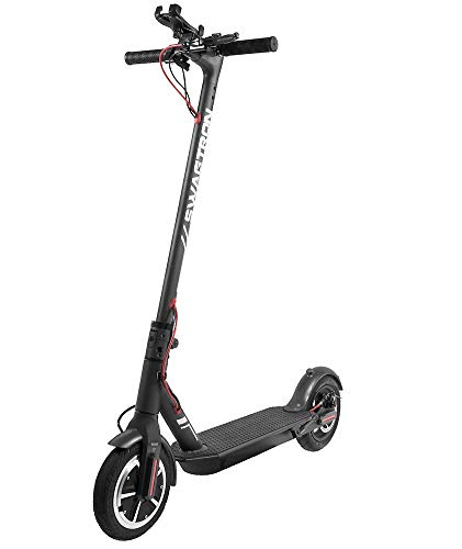 """Swagtron High Speed Electric Scooter with 8.5"""" Cushioned Tires, Cruise Control and 1-Step Portable..."""