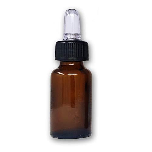 Boccette in vetro ambrato 20 ml. con pipetta contagocce, 25 pezzi