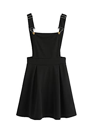 Materials: 95% Polyester, 5% Spandex Adjustable Shoulder Straps, Overall Dress Cute and stylish, invisible zipper back A great choice for come with a long/short sleeve t-shirt ,leggings Stretchy Fabric; Please refer to the size measurement below