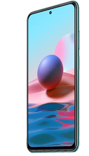 "Xiaomi Redmi Note 10 Smartphone RAM 4GB ROM 64GB 6.43"" AMOLED DotDisplay 5000mAh (typ) Batterie 33W Schnellladung 48MP Wide-Angle Kamera Grün [Globale Version]"