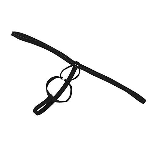 Männer Tanga G String Spinne Doppelring Stretch-Unterwäsche Bikini slips - Schwarz, one size
