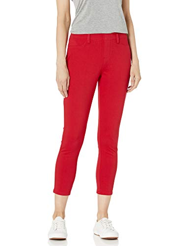 Amazon Essentials Pull-On Knit Capri Jegging Pantaloni, Rosso, XS