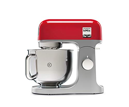 Kenwood KMX750RD Impastatrice Planetaria Kitchen Machine kMix, Robot da Cucina Mixer, 1000 W, Ciotola da 5 Litri con...