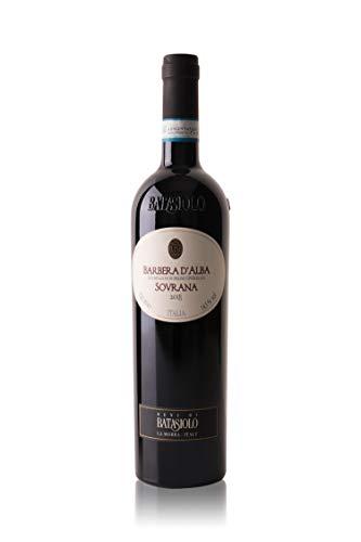 Batasiolo, BARBERA D'ALBA DOC SOVRANA 2018, Vino Rosso Fermo Secco, Balsamico e Corposo, Selezione Galante