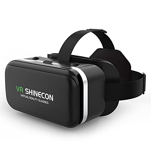 meetdas VR Brille Virtual Reality Headset, 3D VR-Brille Erleben Sie Spiele und 360 Grad Filme in 3D mit weicher & komfortabler VR Brille Glasses für iPhone Samsung Android Handy 5-6,5 Zoll Bildschirm