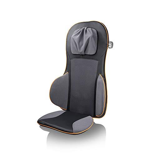 Medisana MC 825 Shiatsu Massageauflage, Massagesitzauflage mit Akupressur, Nackenmassage, Wärmefunktion, 3 Intensitäten, Rotlichtfunktion, mit Fernbedienung für Rücken und Nacken