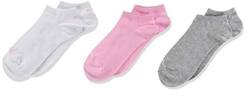 PUMA Kids' Invisible Socks (3 Pack) Calze, Acqua di Rose, 31/34 (Pacco da 3) Unisex-Bambini
