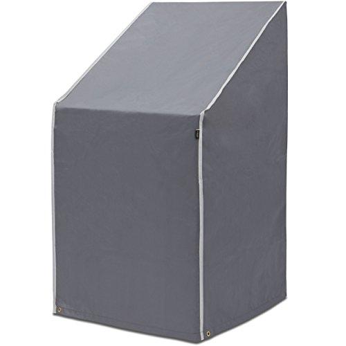 Purovi® Schutzhülle für Stapelstühle   Abdeckung für Gartenstühle und Balkonstühle   Oxford Gewebe   Wetterschutz   Wasserdicht   UV-Schutz