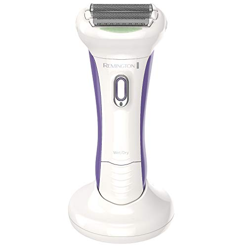 Remington WDF5030ACDN Smooth & Silky Electric Shaver for Women, 4-Blade Smooth Glide Foil Shaver and Bikini Trimmer with Almond Oil Strip, White/Purple