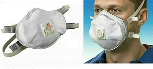 BeCreative 1X Masque Respiratory Protection Plus Plus 3M FFP3 (N95) 8835 Valvola in Carbonio Grippe Batteri Germi CE Medico Chirurgico