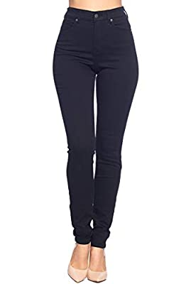 """The basic """"Go To Jean"""" that everyone must have in their closet, high waist super soft stretch skinny jean featuring a traditional 5 hand pocket design, curve hugging premium fabric material, and front button and zipper closure. A style that's trendy ..."""