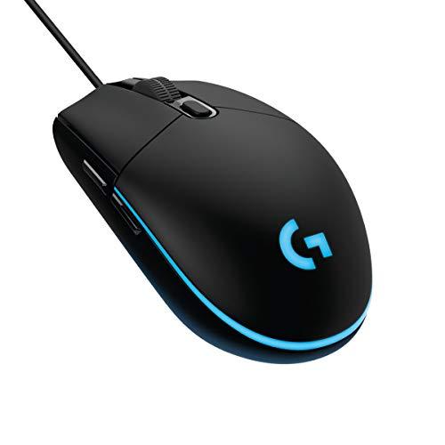 Logitech G203 Mouse Gaming Prodigy, 8000 DPI, RGB, Design Leggero, 6 Pulsanti Programmabili, Memoria Integrata, Compatibile con PC/Mac/Laptop - Nero