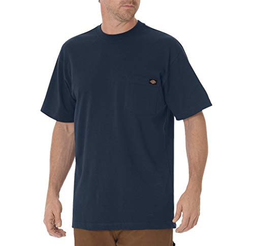 Dickie's Men's Heavyweight Crew Neck Short Sleeve Tee Big-tall,Dark Navy,X-Large Tall